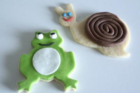 Biscotto ranocchia e biscotto lumaca
