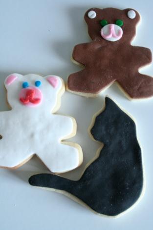 Biscotti orso e biscotto gatto